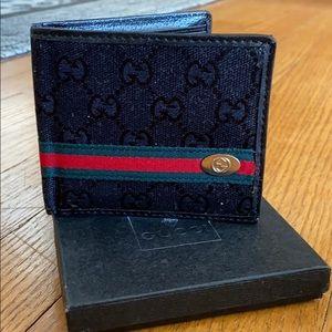 Men's black leather wallet, NWT